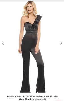 Rachel Allan Black Size 4 Jumpsuit Romper/Jumpsuit Dress on Queenly