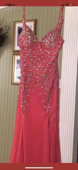 Queenly size 2  Pink Side slit evening gown/formal dress