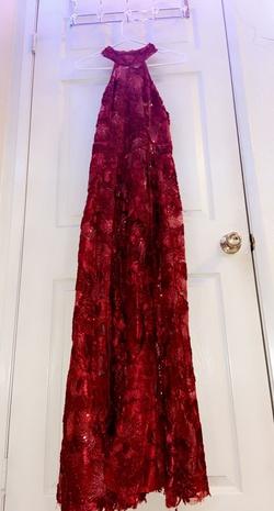 Windsor Red Size 10 Halter Side slit Dress on Queenly
