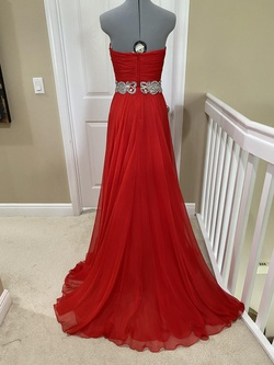 Jovani Red Size 4 Tall Height A-line Dress on Queenly