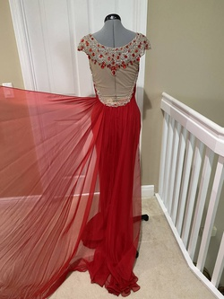 Sherri Hill Red Size 8 Tall Height Straight Dress on Queenly