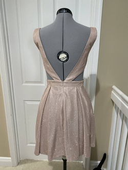 Jovani Gold Size 6 Sorority Formal Tall Height Wedding Guest Cocktail Dress on Queenly