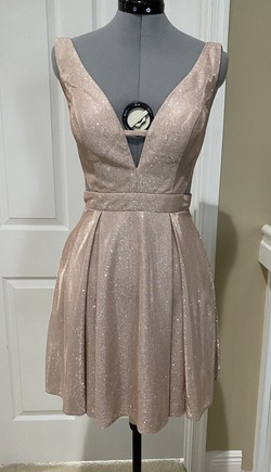Queenly size 6 Jovani Gold Cocktail evening gown/formal dress