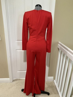 Jovani Red Size 8 Tall Height Romper/Jumpsuit Dress on Queenly