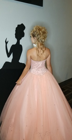 Mori Lee Pink Size 4 Prom Morilee  Ball gown on Queenly