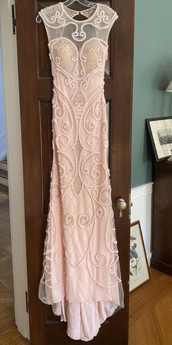 Queenly size 0  Pink Train evening gown/formal dress