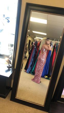 La Femme Pink Size 6 Side slit Dress on Queenly
