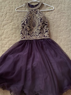 Blondie Nites Purple Size 4 Homecoming Cocktail Dress on Queenly