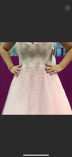 Queenly size 10 Jovani Pink Cocktail evening gown/formal dress