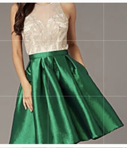 Queenly size 8  Green Cocktail evening gown/formal dress