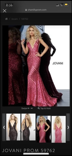 Queenly size 4 Jovani Pink Train evening gown/formal dress