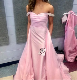 Queenly size 00 Dandan Li Pink Train evening gown/formal dress