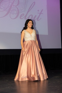Queenly size 12  Pink A-line evening gown/formal dress