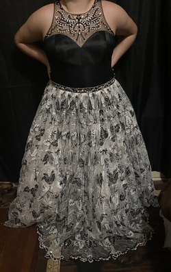 Queenly size 22 Zoey Grey Black Ball gown evening gown/formal dress