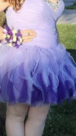 Purple Size 22 Cocktail Dress on Queenly
