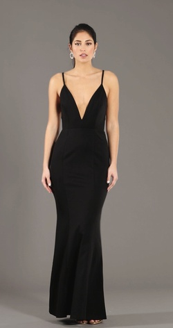 Queenly size 8  Black Straight evening gown/formal dress