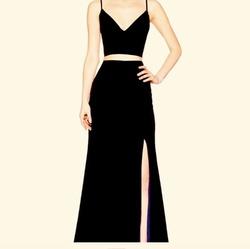 Black Size 4 Side slit Dress on Queenly