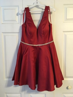 Red Size 16 A-line Dress on Queenly