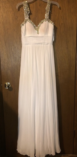Tiffany Designs White Size 4 Prom Sweetheart Mermaid Dress on Queenly
