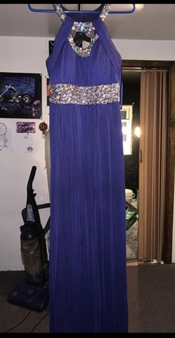 Queenly size 8 Betsy & Adam Purple Side slit evening gown/formal dress