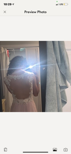 Blush Light Pink Size 2 Prom A-line Dress on Queenly