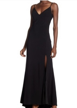 Queenly size 18  Black Side slit evening gown/formal dress