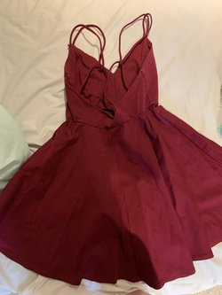 Windsor Red Size 4 Burgundy A-line Dress on Queenly