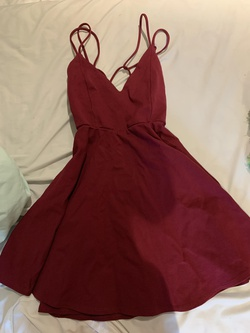 Queenly size 4 Windsor Red A-line evening gown/formal dress
