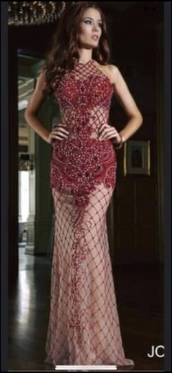 Jovani Red Size 8 Straight Dress on Queenly