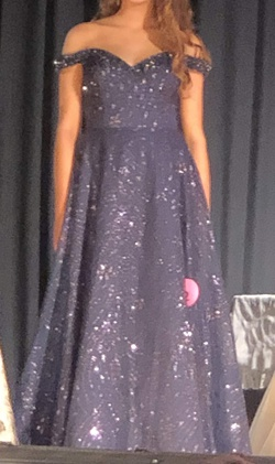 Mac Duggal Blue Size 6 Tall Height Ball gown on Queenly