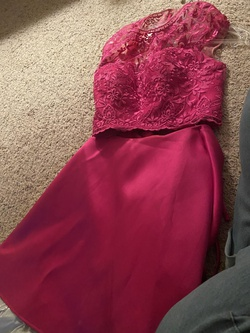 Queenly size 8 Mori Lee Pink Cocktail evening gown/formal dress