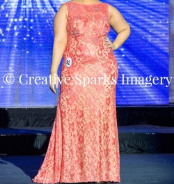 Jovani Orange Size 10 Coral Straight Dress on Queenly