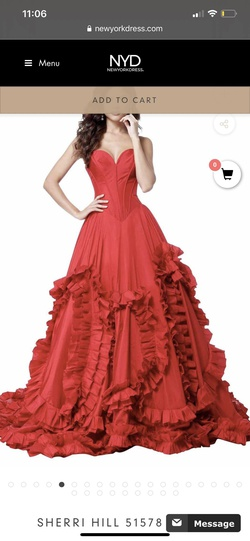 Style 51578 Black Size 6 Ball gown on Queenly