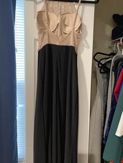 Blondie Nites Black Size 2 Sheer Side Slit Short Height Sequin A-line Dress on Queenly