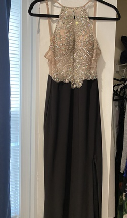 Queenly size 2 Blondie Nites Black A-line evening gown/formal dress
