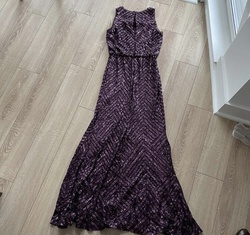 Calvin Klein Purple Size 6 Sequin Ball gown on Queenly