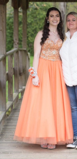 Queenly size 4  Orange Ball gown evening gown/formal dress