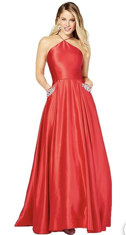 Queenly size 0  Red A-line evening gown/formal dress