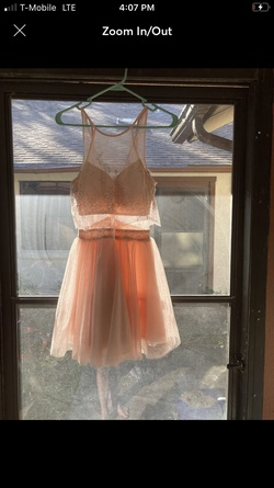 Teeze me Nude Size 2 Sorority Formal Cocktail Dress on Queenly