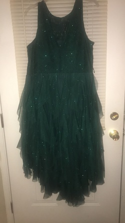teeze me Green Size 18 Emerald Sorority Formal Wedding Guest Plus Size Cocktail Dress on Queenly