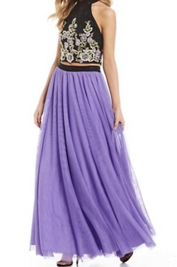 Queenly size 2  Purple A-line evening gown/formal dress