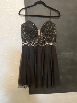 Queenly size 14 Sherri Hill Black Cocktail evening gown/formal dress