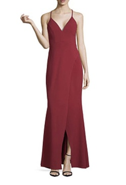 Queenly size 16 My Michelle Red Straight evening gown/formal dress