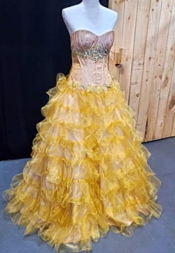 Queenly size 4 Morgeez Gold Ball gown evening gown/formal dress