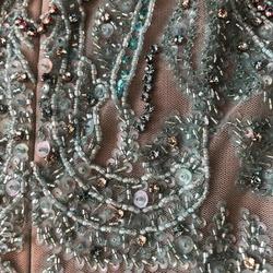 Sherri Hill Blue Size 4 Corset Custom Mermaid Dress on Queenly