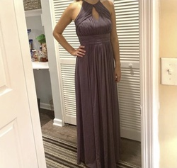Vivian Diamonds Dessy Collection Purple Size 8 Grey Ball gown on Queenly