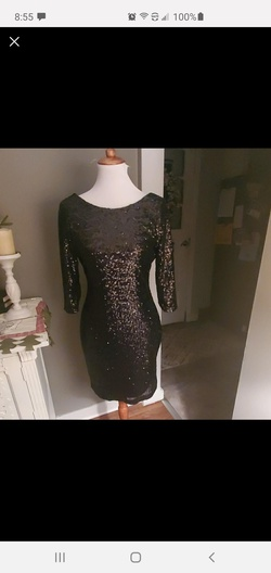 Ruby Rox Black Size 6 Sorority Formal Cocktail Dress on Queenly