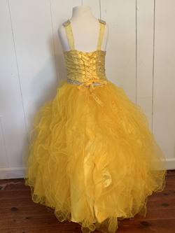 Yellow Size 4 Ball gown on Queenly