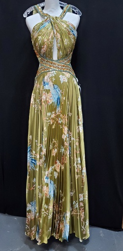 Queenly size 16 Party Time Formals Green A-line evening gown/formal dress