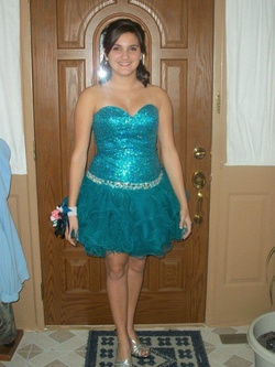 Sherri Hill Blue Size 6 Cocktail Dress on Queenly